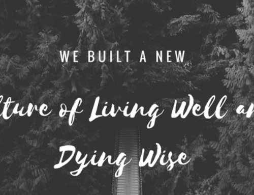 It is imperative to enage in the conversation of dying well